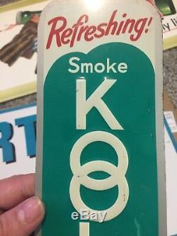 100% Vintage Kool Cigarette Tobacco Sign Tin Embossed RARENOS
