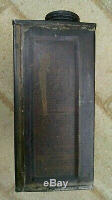 1910's Tin Litho Can WONDER MIST Gas Station Oil Sign RARE Vintage Pierce Arrow