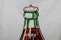 1930s Vintage Coca-Cola 1923 Style Bottle tin Embossed Advertising Sign