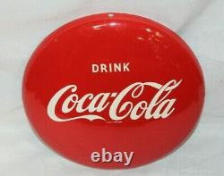 1950's Vintage Coca-Cola Tin Round Button Drink Coke In Bottles 12