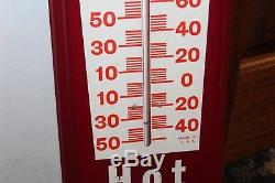 1960-70s Vintage Dr Pepper Soda Advertising HOT or Cold Tin Thermometer Sign
