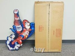 1990 Vintage Budweiser Beer Bud Man Metal / Tin Tacker Sign Mca 042-211 Budman