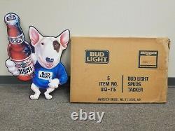 1991 Vintage Spuds Mackenzie Bud Light Beer Metal /tin Tacker Sign Mca 813-115