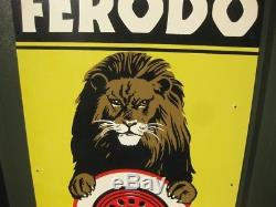 26875 Old Vintage Garage Sign Tin N0t Enamel Ferodo Brake Service Tire Tyre gas