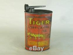 31558 Old Vintage Bicycle Cycle Tin Can Advert Oil Oiler Bike Shop Sign Tiger
