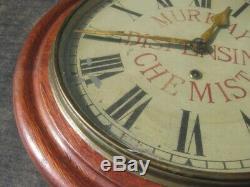 37980 Old Antique Vintage Tin sign N0t Enamel Chemist Shop Clock Advert