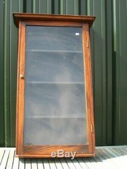 38331 Old Antique Vintage Collectors Display Cabinet Tin Bottle Enamel Sign