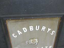 46040 Old Vintage Antique Pub Mirror Shop Sign Cadbury's Chocolate Tin Enamel