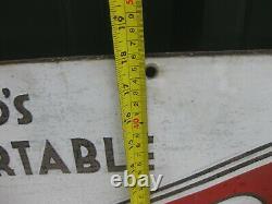 46976 Old Vintage Antique Enamel Sign Shop Advert Corona Typewriter Tin metal