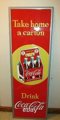 54 Rare Vintage Metal Tin Coca-Cola Coke Soda Pop 6 Pack Carton Sign Ad Display