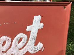 70 X 33 75 Vintage Original Supersweet Feeds Tin Sign