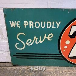 7up 1940 Vintage Advertising 7up Metal Tin Sign 28x 11 Seven Up