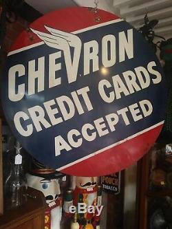 Anitque/Vintage 1950's Chevron Tin Sign