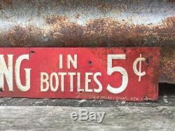 Antique Metal Sign Grape Tang Vintage Sign 5 Cent Thin Tin Tacker 1930s Original