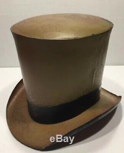 Antique Tin Top Hat Trade Display Sign