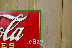 Antique Vintage 1931 Coca Cola Coke Soda Original Tin Metal Advertising Sign