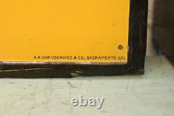 Antique Vintage Advertising Shoe Repairing Shoe Boot Trade Sign Tin Tacker 1900s