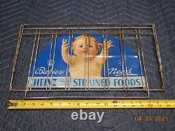 Antique Vintage General Store Heinz 57 Baby Food Counter Display Tin Litho Sign