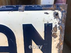 Antique Vintage Hinman Milkers Tin Sign Rare