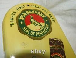Antique Vintage Rare PARODI Cigars Advertising Tin Thermometer works
