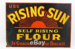 Antique Vintage Rising Sun Flour Tin Advertising Sign Free ship