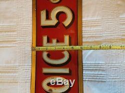 Antique YOUR CHOICE 5c cigar Sign advertising tin litho 27 Original Old vintage