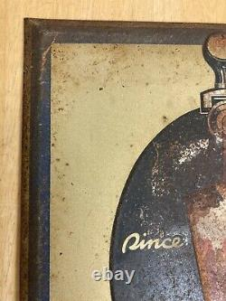 As is, VTG STEGMAIER BEER ON DRAUGHT TIN OVER CARDBOARD TOC SIGN WILKES-BARRE PA