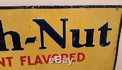 Big Vintage Embossed Tin Beech Nut Gum Sign