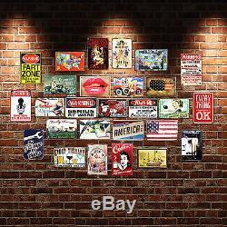 Bulk Sale Tin Sign Poster Vintage Metal Sign Bar Garage Coffee Shop Wall Decor