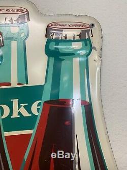 Coca Cola Vintage 6 Pack Tin Sign 30 x 36