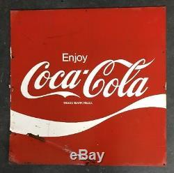 Coke Coca-Cola Genuine Vintage Metal Australian Tin Sign Milk Bar