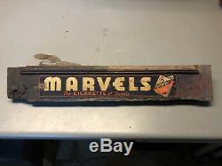 Collector Vintage Rare Marvels Cigarette Tobacco Tin Tacker Door Push Sign