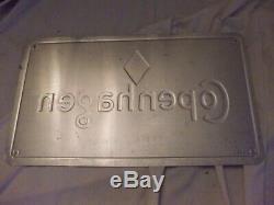 Copenhagen Satisfies since 1822 Tobacco Snuff Tin Metal VINTAGE Sign 21 x 12