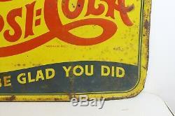 DOUBLE DOT Vintage Drink PEPSI COLA SODA Advertising Tin Sign