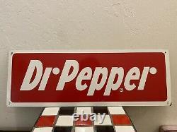 Dr. Pepper Vintage Sign Original Metal Tin Tacker 20 X 7 Soda Pop old sign
