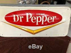 Dr. Pepper Vintage Tin Sign Original 1950s