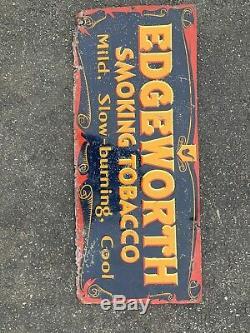 Edgeworth Smoking Tobacco Tin Sign Original Vintage Pipe Cigar 27.5x11.5