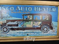 Francisco Auto Heater Tin Advertising Sign Old Vintage Car Service Gas Station