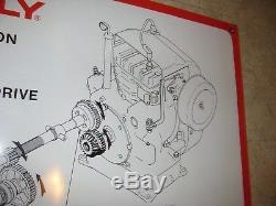 GRAVELY Vintage Dealer Sign 8 Speed Transmission TIN Large Hanging Nice NOS