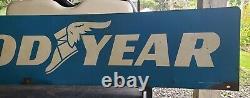 Goodyear Tin Vintage Advertising Sign Gas Oil Garage