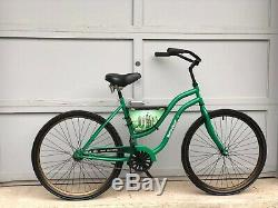 Heineken Vintage Promotional Bicycle Bike large storage tin sign