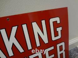 K C Baking Powder Vintage Double Sided Advertising Tin Sign 334-u