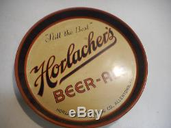 L2182 VINTAGE HORLACHER BEER ALE TIN LITHO 12 TRAY ALLENTOWN PA 1936 Sign