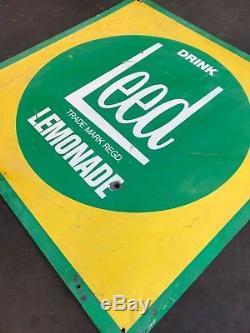LEED LEMONADE Genuine Vintage Tin Sign Milk Bar STANDARD INDUSTRIES AUSTRALIAN