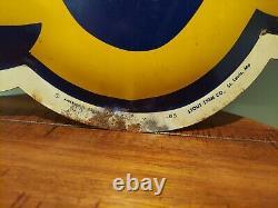 Large 27x35 Vintage Original 1965 Bunny Bread Advertisement Metal Tin Sign
