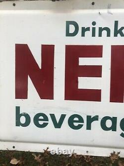 Large Vintage Original NEHI Beverages Tin Metal Sign