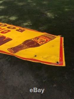 MASON'S OLD FASHIONED ROOT BEER Vtg VINTAGE EMBOSS TIN Original Sign Metal