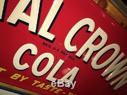 Minty Vintage Antique Royal Crown Cola Nehi Co. Tin Non Porcelain Bottle Sign