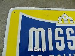 Mission Orange Vintage Soda Tin Sign