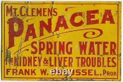 Mt. Clemens Panacea Vintage Tin Advertising Sign